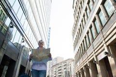 Viajante dentro na cidade Foto de Stock