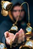 Viajante dourado do tempo foto de stock