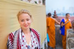 Viajante fêmea em Banguecoque Imagem de Stock Royalty Free