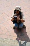 Viajante no quadrado de Durbar em Kathmandu Nepal Imagem de Stock Royalty Free