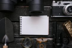 Viajante ou turista para fazer o bloco de notas da lista Foto de Stock Royalty Free