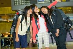Viajantes Backpacking Fotos de Stock