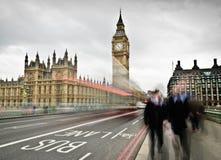 Viajantes de bilhete mensal em Londres Foto de Stock Royalty Free