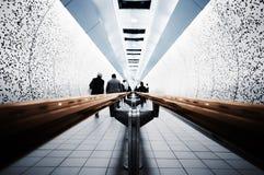 Viajantes de bilhete mensal na câmara de ar Imagens de Stock Royalty Free