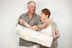 Viajantes perdidos Imagem de Stock