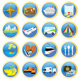 Viajar-ícones Imagens de Stock
