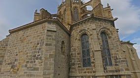 Viajar al lado trasero de Castro Urdiales Cathedral 32 almacen de video