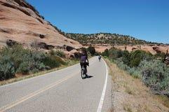 Viajar a ciclistas Fotografía de archivo