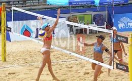 Viaje 2011 del mundo de la MUESTRA FIVB del voleibol de la playa Foto de archivo libre de regalías