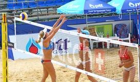 Viaje 2011 del mundo de la MUESTRA FIVB del voleibol de la playa Imágenes de archivo libres de regalías