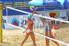 Viaje 2011 del mundo de la MUESTRA FIVB del voleibol de la playa Fotografía de archivo libre de regalías
