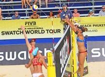 Viaje 2011 del mundo de la MUESTRA FIVB del voleibol de la playa Fotos de archivo libres de regalías