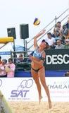 Viaje 2011 del mundo de la MUESTRA FIVB del voleibol de la playa Imagen de archivo