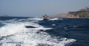 Viaje adventurero del barco, Francia foto de archivo libre de regalías