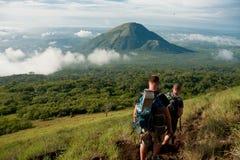 Viaje al EL volcan Hoyo, Nicaragua Imagen de archivo