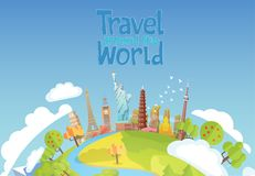 Viaje al mundo Viaje por carretera Turismo señales libre illustration
