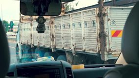 Viaje al taxi almacen de metraje de vídeo