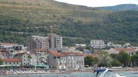 Viaje alrededor de Montenegro, el mar adriático almacen de metraje de vídeo