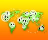 Viaje alrededor del globo stock de ilustración