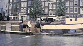 Viaje Amsterdam en 1970 s del barco metrajes