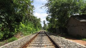Viaje asiático - ferrocarril en Sri Lanka Fotos de archivo libres de regalías