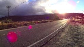 Viaje 3 California de la carretera del POV almacen de metraje de vídeo