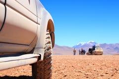 Viaje campo a través de SUV Foto de archivo libre de regalías