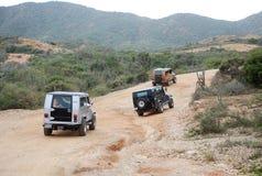 Viaje campo a través del jeep en Isla Margarita Imagenes de archivo