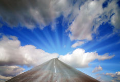 Viaje celeste Imagen de archivo libre de regalías