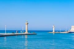 Viaje 2015, ciudad de Grecia de la isla de Rhodos, Rodas Fotos de archivo libres de regalías