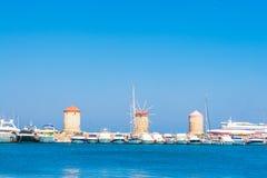 Viaje 2015, ciudad de Grecia de la isla de Rhodos, Rodas Foto de archivo libre de regalías