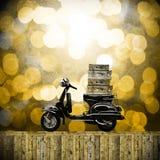 Viaje con concepto de las motocicletas Imagen de archivo libre de regalías
