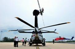 Viaje de AgustaWestland AW189 Asia que visita Tailandia Fotos de archivo