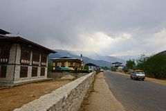 Viaje de Bhután Imagen de archivo