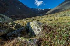 Viaje de Chitkul - paisaje del valle de Sangla, Himachal Pradesh, la India/valle de Kinnaur fotografía de archivo