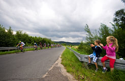 Viaje de ciclo 2016 de Krkonose Imagenes de archivo