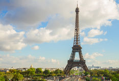 Viaje de Eiffel y de Trocadero, París Foto de archivo libre de regalías