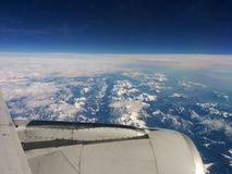 Viaje de Europa Alitalia del vuelo Fotografía de archivo
