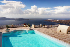 Viaje de Grecia del paisaje de la isla de Santorini Imagen de archivo libre de regalías