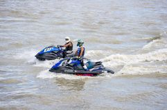 Viaje de Jetski del G-choque favorable Tailandia 2014 Internationa Fotografía de archivo libre de regalías