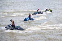 Viaje de Jetski del G-choque favorable Tailandia 2014 Watercross internacional G Foto de archivo libre de regalías