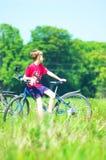 Viaje de la bici Imagen de archivo libre de regalías