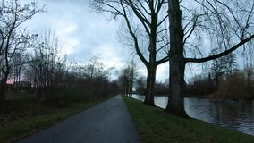 Viaje de la bici en Amsterdam almacen de video