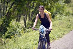 Viaje de la bicicleta Imágenes de archivo libres de regalías