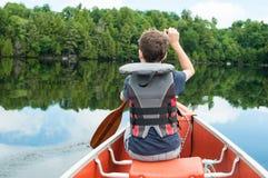 Viaje de la canoa foto de archivo libre de regalías