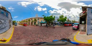 viaje de la ciudad de Key West la Florida de 360 fotos Fotografía de archivo