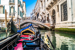 Viaje de la góndola, Venecia Fotos de archivo