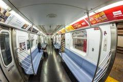 Viaje de la gente en el metro en Nueva York Fotografía de archivo libre de regalías