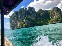 Viaje de la isla del barco foto de archivo libre de regalías