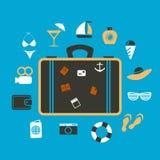 Viaje de la maleta Foto de archivo libre de regalías